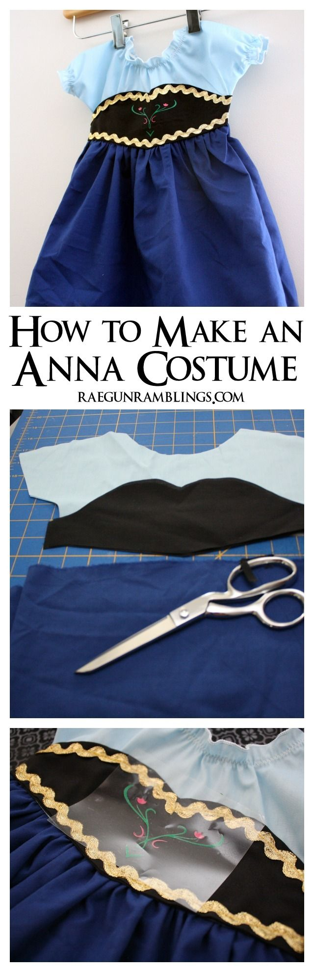 DIY Frozen Anna Costume Tutorial - Rae Gun Ramblings