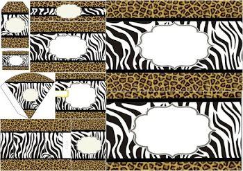 Mini Kit de Leopardo y Cebra para Imprimir Gratis.