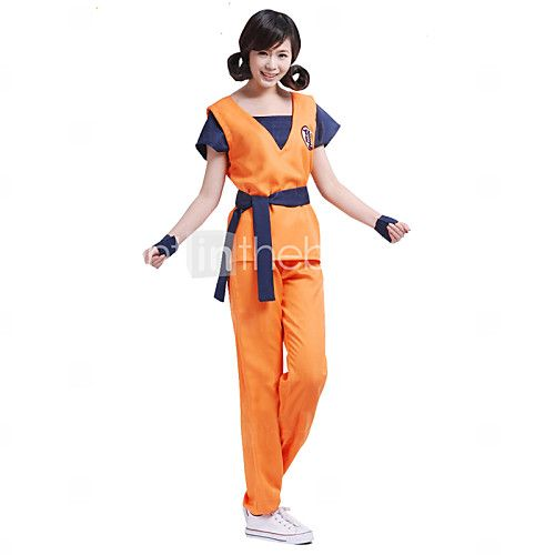 Inspired by Dragon Ball Son Goku Anime Cosplay Costumes Cosplay Suits Print Orange Short Sleeve Top / Pants / Belt 2017 - $32.99