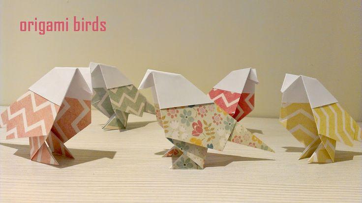 origami birds. pajaros de origami. paper birds