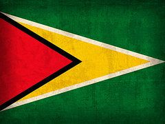 Guyana Flag Art - Guyana Flag Vintage Distressed Finish by Design Turnpike