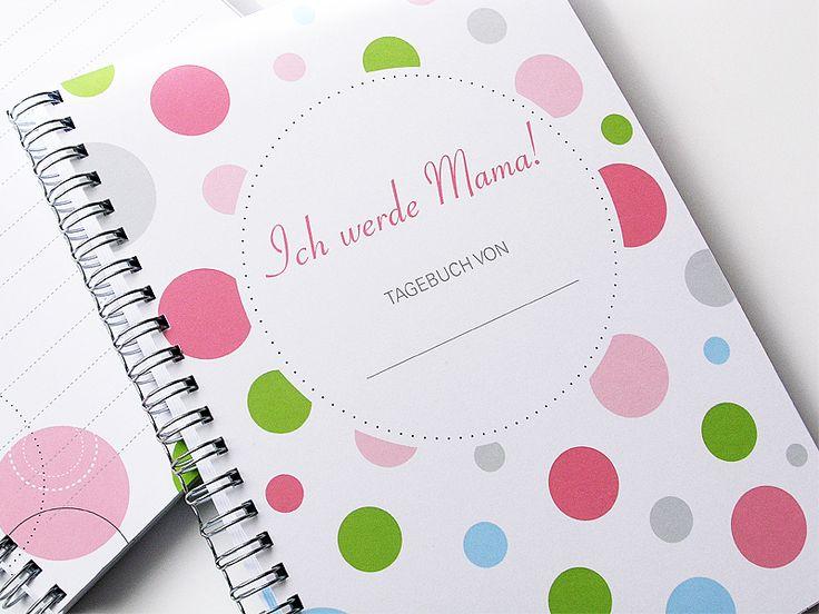 """*Schwangerschafts-Tagebuch """"ICH WERDE MAMA!"""" DIN A5*    Wunderbares Geschenk für werdende Mütter oder zum Selbstbeschenken:    Unser Schwangerschaf..."""