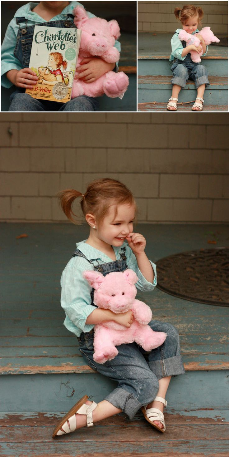 Costume overalls and a pig and bam you re fern from charlotte s web