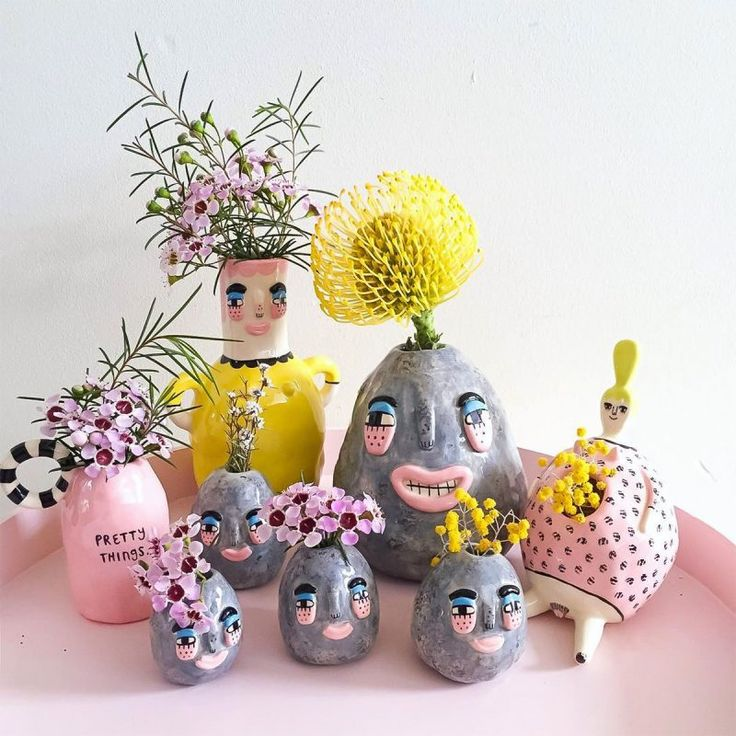 Miss Moss · Laurie Melia Ceramics Ceramic Clay, Ceramic Vase, Ceramic Pottery, Slab Pottery, Sculptures Céramiques, Ceramic Sculptures, Air Dry Clay, Pottery Painting, Clay Crafts