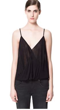 Zara: TOP FINO DRAPEADO  15,95 EUR