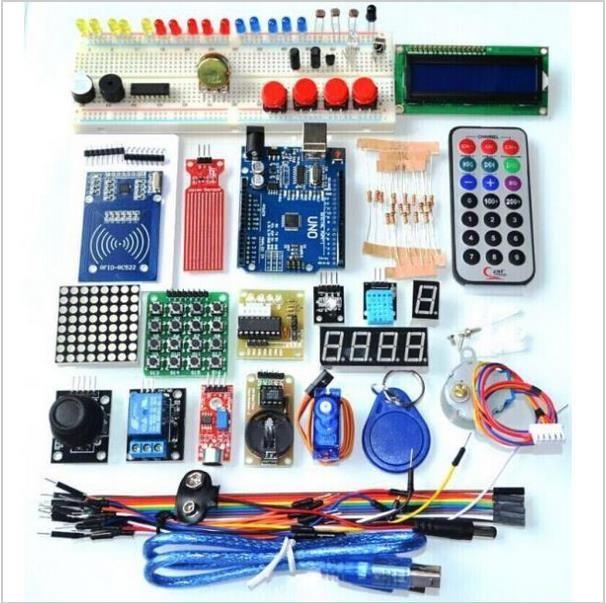 Upgrade Versi Lanjutan Starter Kit RFID belajar Suite Kit LCD 1602 untuk Arduino UNO R3