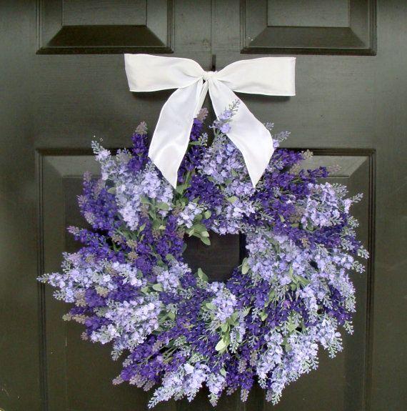 Sweet summertime :)Wall Decor, Lavender Wreaths, Wreaths For Doors, Wreath Summer, Lavender Weddings, Summer Wreaths, Wreaths Summer, Spring Wreaths, Wedding Wreaths