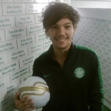 Louis getting ready for his football match today!