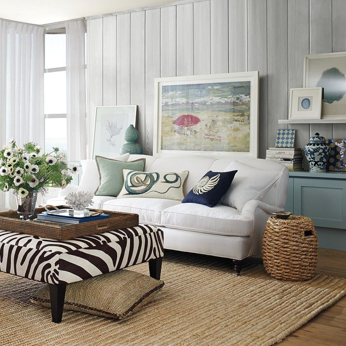Pretty Coastal Living Room I Love This Eclectic Look