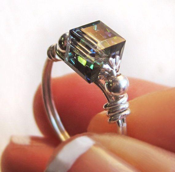 Wire wrap rings by iris-flower
