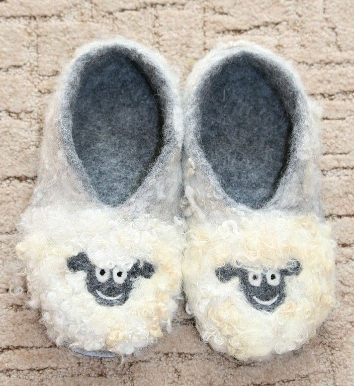 """Купить Домашние тапочки """"Овечки"""" - валяные тапочки, тапки, тапочки, домашние тапочки, Овечки, овечка"""