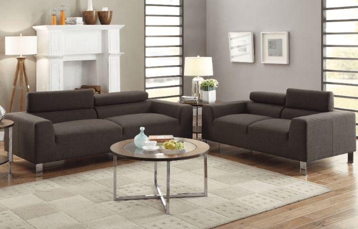 Ryall Sofa Suite in Ash Black