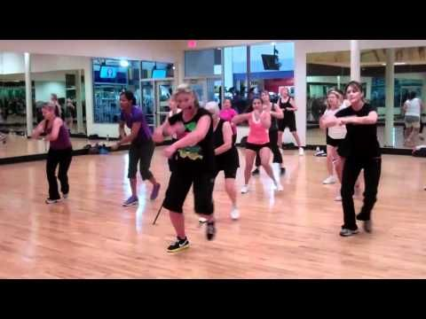 Zumba - Moves Like Jagger - had to pin for grandma in the front row, Jagger is jealous of her moves! <3