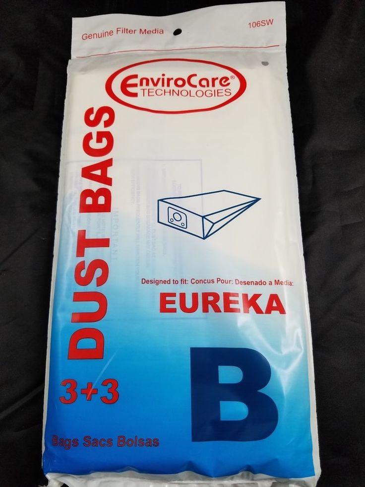 PACK OF 3 EUREKA VACUUM CLEANER DUST BAGS - STYLE B - ENVIROCARE #106SW #EurekaEnviroCare