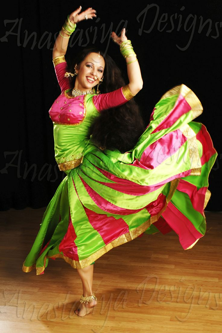Indian Dance Costumes Design Green Indian Gypsy