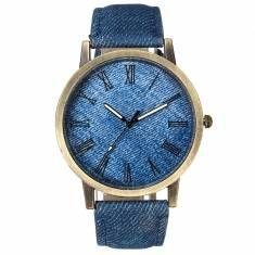 Fashion Cowboy Men Women PU Leather Band Analog Round Dial Quartz Wrist Watch