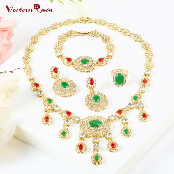Find More Jewelry Sets Information about WesternRain Hot Selling Green Rhinestone Pendant & Necklace Muslim Allah Dubai Gold Plated Jewelry Set For Women Bride A066G,High Quality set racket,China set coral Suppliers, Cheap set rouge from Shop717437 Store on Aliexpress.com