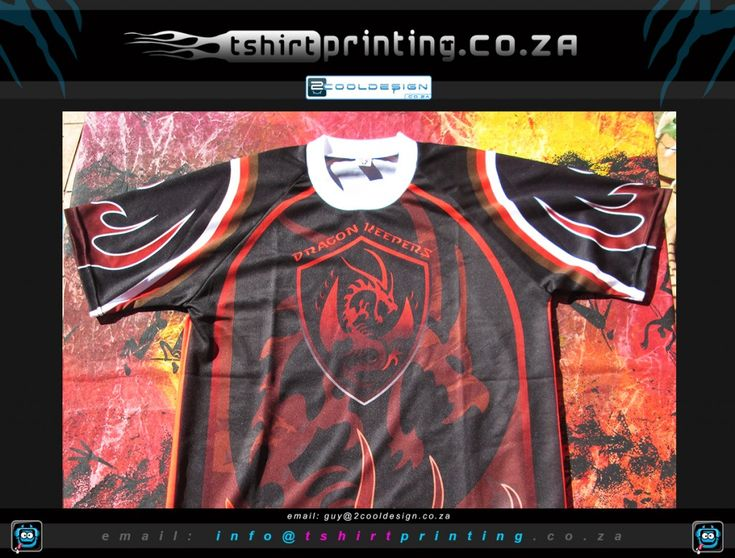 Custom Clan gamer shirts printed for RageExpo 2014 for Dragon keepers Gamer Clan based in South Africa http://tshirtprinting.co.za/t-shirtprinting/gamer-shirts/