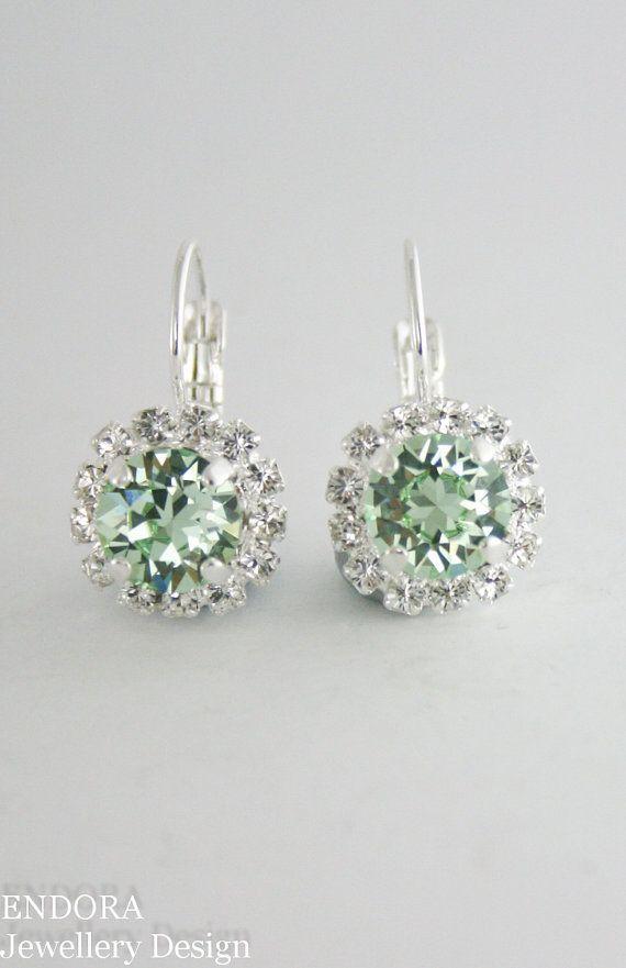 Light green earringslight green wedding by EndoraJewellery on Etsy