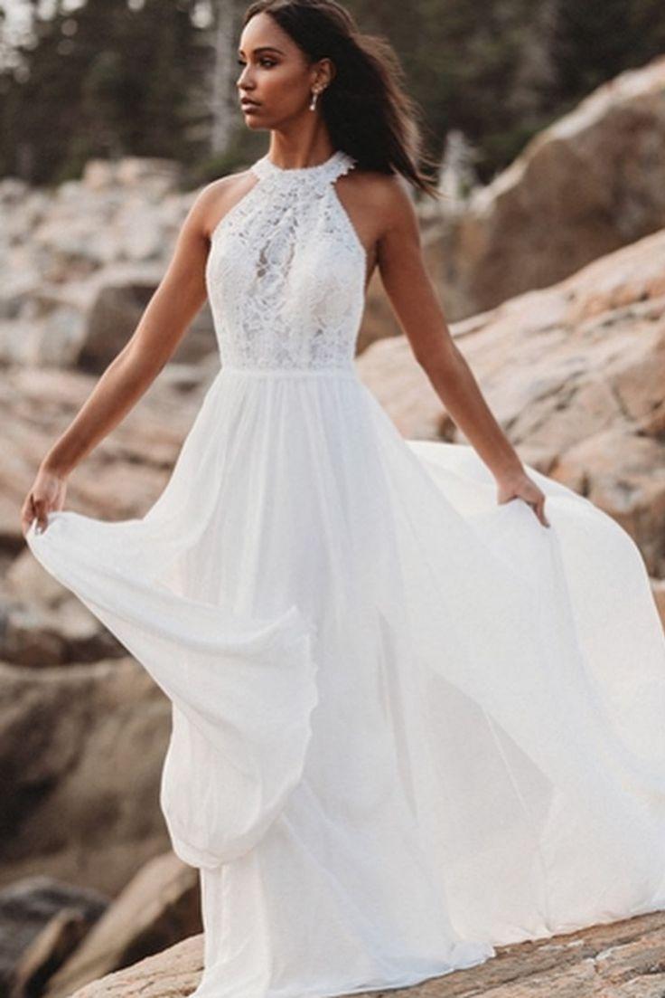 Halfter weißes langes Hochzeitskleid #halfter #hochzeitskleid
