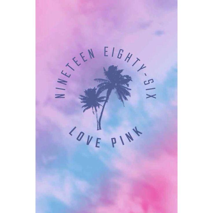 Tie Dye Love Pink Victoria Secret Wallpaper