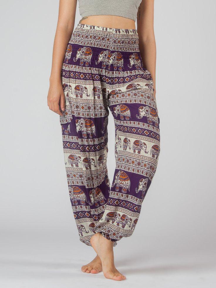 Saza Purple Harem Pants