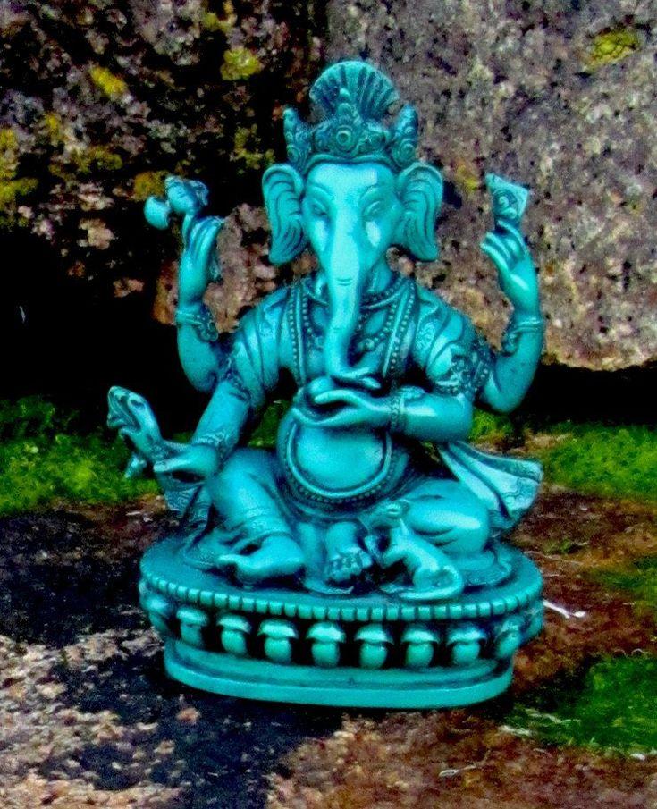Turquoise Ganesh Statue
