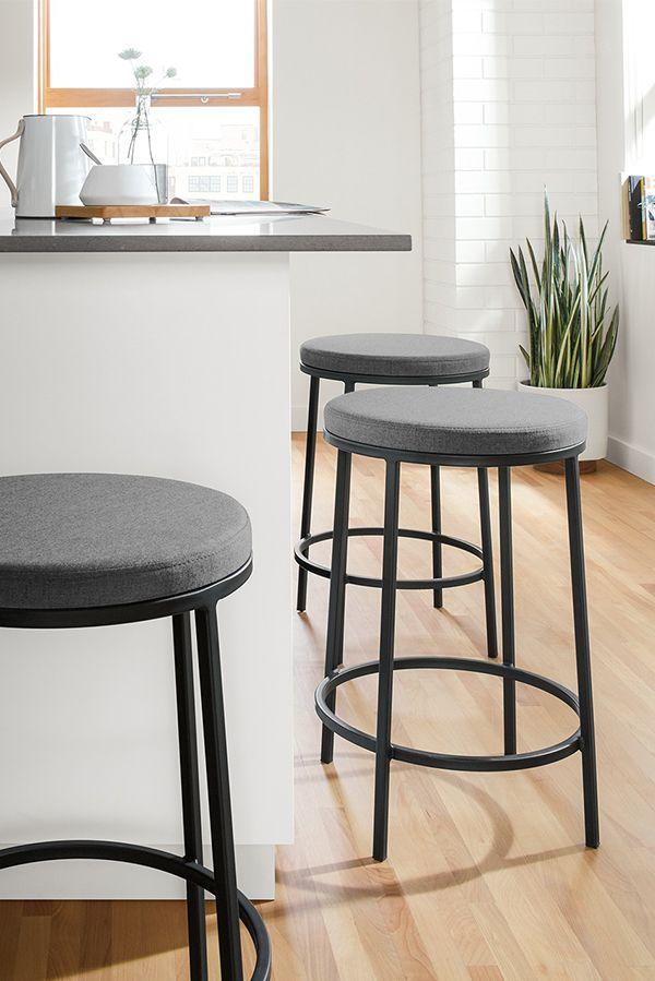 Room Board Tori Counter Bar Stools With Fabric Seat Modern