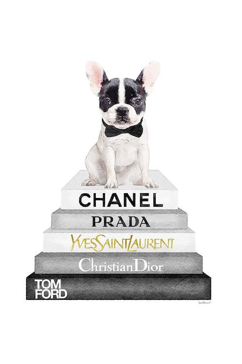 白をトッピンググレーと黒の本棚…  アマンダ・グリーンウッド  – Chanel