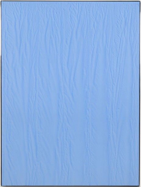 Michael Staniak, IMG_849 (Internet Blue), 2014. Casting compound and acrylic on board with stainless steel frame, 48 x 36 inches PrevNext