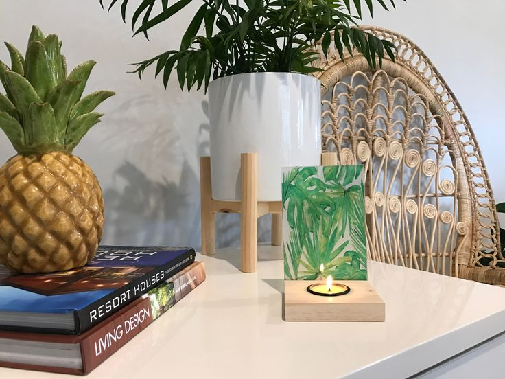 Palm tree tealight holder