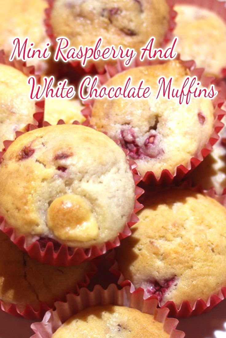 Anything mini is just so cute, these mini Raspberry and White Chocolate Muffins are no exception. We made them for an afternoon tea style birthday party, the leftovers went in the freezer for school lunches.