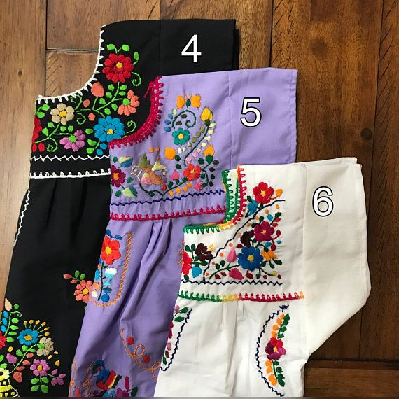 3-4T Handmade Embroidered Mexican toddler dress