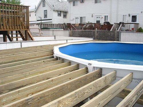Deck Around A Pool In 2019 Patio Designs Swimming Pool