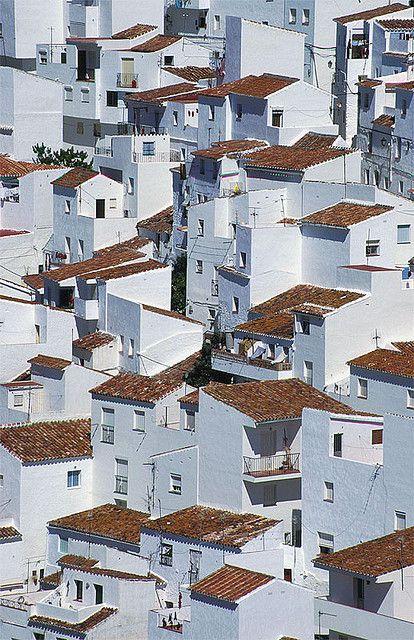 White painted houses of Casares, Málaga, Spain