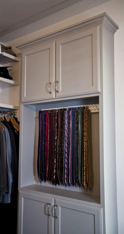 Adding Tie Storage elegant storage solutions www.cedarhillfarmhouse.com