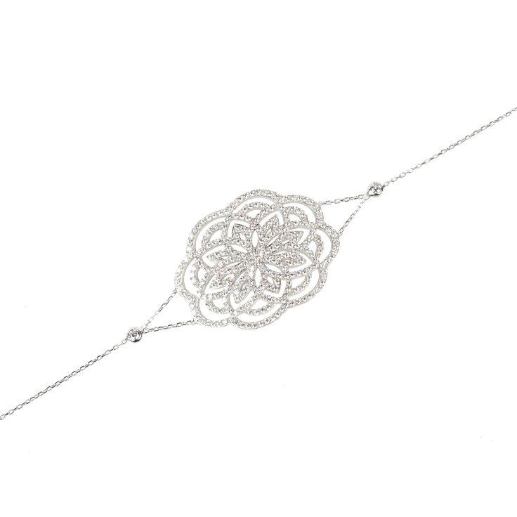 Lotus Bracelet Silver | Latelita London | Wolf & Badger