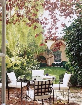 House Beautiful: Idea, Favorite Places, Outdoor Living, Dream, Brick Patio, Gardens, Backyard, Outdoor Spaces, Landscape