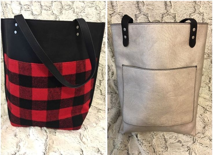 NWT Abercrombie & Fitch Womens Buffalo Plaid Red/Black Silver Reversible Tote #AbercrombieFitch #TotesShoppers