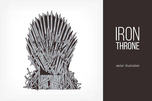 Game Of Thrones Iron Throne Iron Throne Game Of Thrones Illustrations Throne