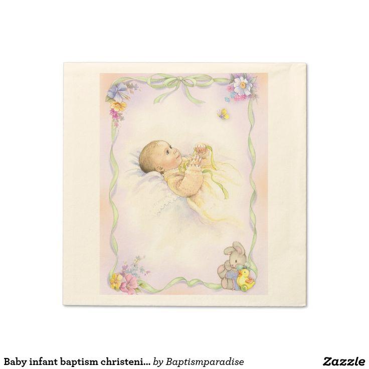Baby infant baptism christening design paper napkin