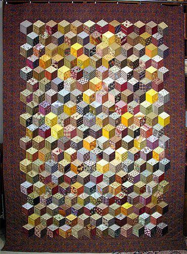 091125 Quilt d'automne – les cubes ou Baby Blocks                              …                                                                                                                                                                                 Plus