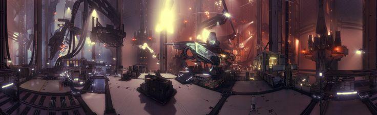 ArtStation - Killzone Shadowfall DLC - The Hangar, Matthew Birkett-Smith
