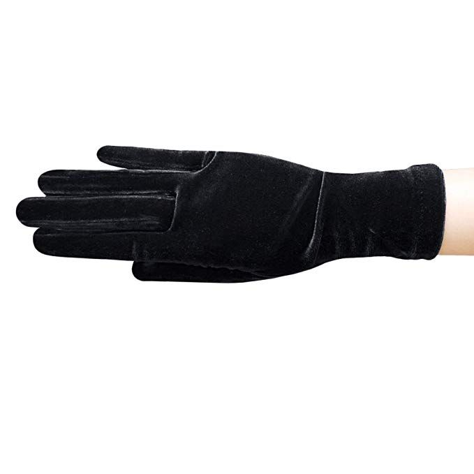 Womens Fashion Leather Gloves Floral Sexy Lace Ribbon Wrist Glove Ladies Mittens