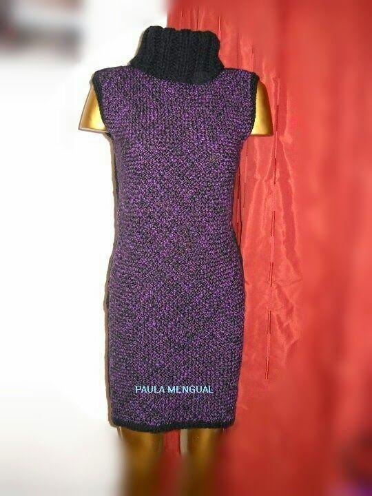 Paula Mengual Tejidos de Autor: Tutorial Vestido con dos rectángulos (Telar)