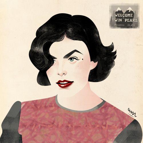 Audrey Horne illustration by Magdalia