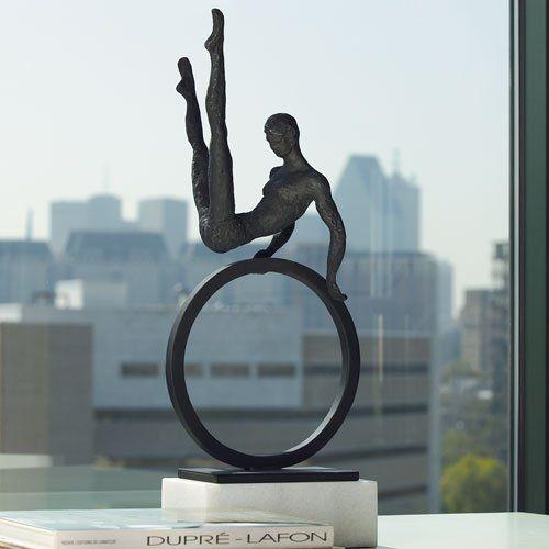 "Global Views 8.80333 Gymnast Man Transitional Sculpture GLV-8-80333 - $322.50 - 25""h x 9w x 5d"