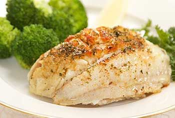 Flounder Stuffed with Crabmeat. This is what Kit and David eat the first time they have dinner together.