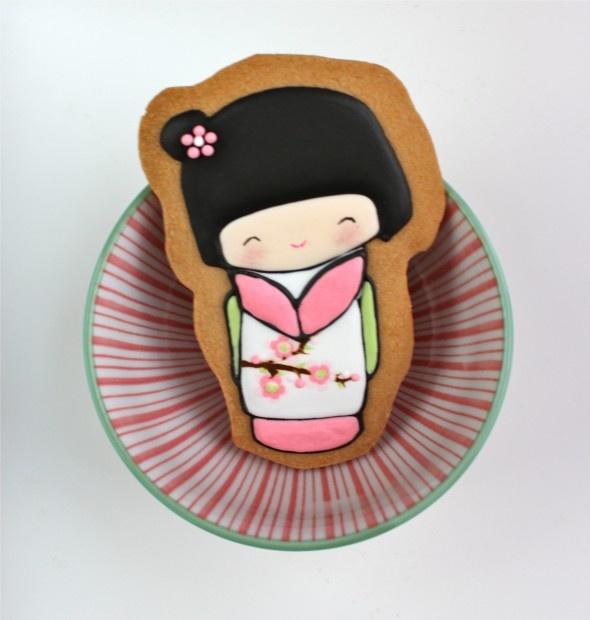 Kokeshi Decorated CookiesCookies Ideas, Kokeshi Dolls, Kokeshi Cookies, Decor Cookies, Kokeshi Decor, Decorated Cookies, Beautiful Cookies, Cookie Decorating, Cookies Inspiration