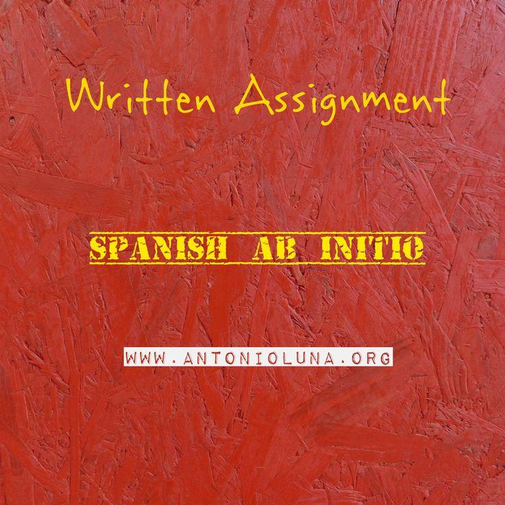 Spanish ab Initio Written assignment Antonio Luna